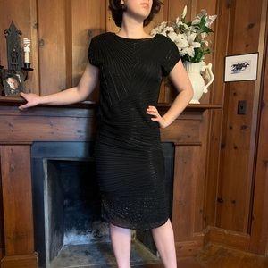 Vintage 100% SILK beaded dress